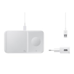 Samsung Wireless Charger Duo & Travel Charger Λευκό