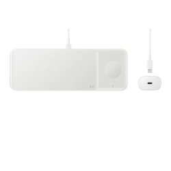 Samsung Wireless Charger Trio & Travel Charger Λευκό