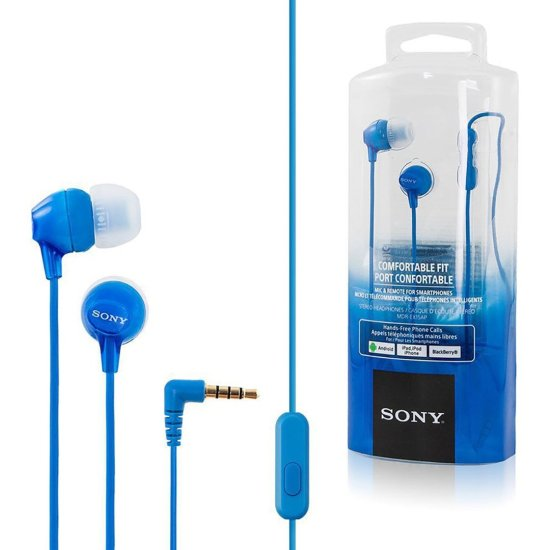 Sony Handsfree MDREX15AP Μπλε