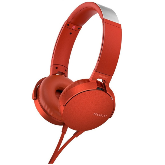 Sony Headphones MDR-XB550AP Κόκκινα
