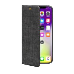 Vivid Fabric Book iPhone XS Max Γκρι Σκούρο