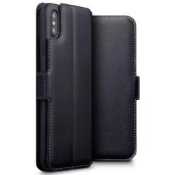 Vivid Θήκη Book Γνήσιο Δέρμα iPhone XS Max Μαύρη