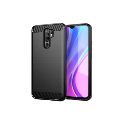 Vivid Θήκη Carbon Xiaomi Redmi Note 9 Μαύρη