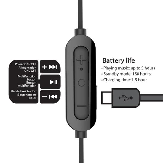 iLuv Bluetooth Handsfree Bubble Gum Air Μαύρα