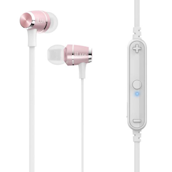 iLuv Bluetooth Handsfree Metal Force Air V2 Ροζ Χρυσό