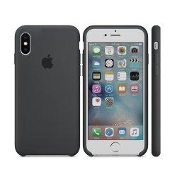 iPhone X/XS Γκρι Σκούρο Θήκη Σιλικόνης