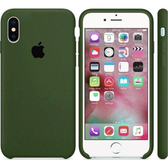iPhone X/XS Χακί Θήκη Σιλικόνης