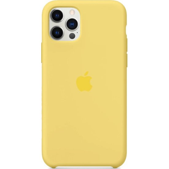 iPhone 12 Pro Max Κίτρινη Θήκη Σιλικόνης