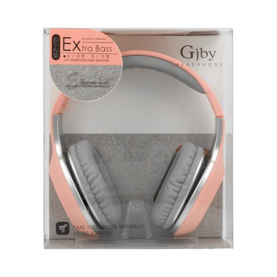 Gjby GJ-28 Ενσύρματα Over Ear Ακουστικά Ροζ