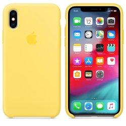 iPhone XS Max Κίτρινη Θήκη Σιλικόνης