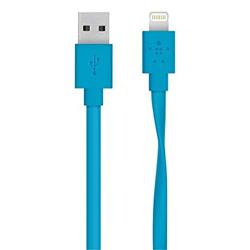 Belkin Cable Lightning Flat 2.4A 1.2m Μπλε
