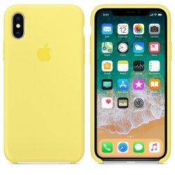 iPhone X/XS Κίτρινη Θήκη Σιλικόνης