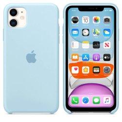 iPhone 11 Pro Max Γαλάζια Θήκη Σιλικόνης