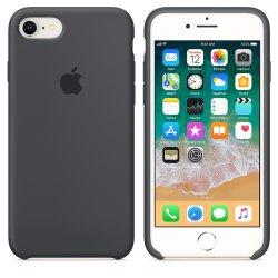 iPhone 7/8 Γκρι Σκούρο Θήκη Σιλικόνης