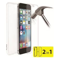 Set Puro Cover Case Tpu 0.3 iPhone 7 & Tempered Glass Διάφανο