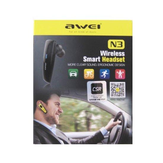 Awei N3 In-ear Bluetooth Handsfree Μαύρο