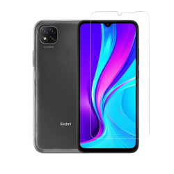 Vivid Set TPU + Tempered Glass Xiaomi Redmi 9C Διάφανο